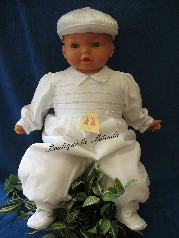 433431c3cf137 BARBOTEUSE CEREMONIE BAPTEME MANCHE LONGUE HIVER REF. ANTONY - BOUTIQUE LA  MELINDA