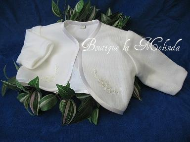 BOLERO GILET DOUBLE CEREMONIE BAPTEME MINIATURE - BOUTIQUE LA MELINDA