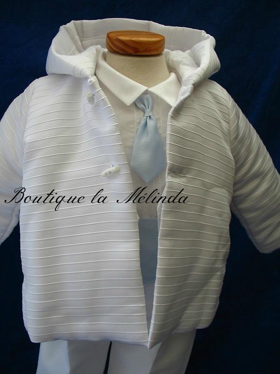 Manteau de baptême, manteau blanc cérémonie, cape de baptême